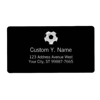 Soccer Football Futbol Ball Shipping Label