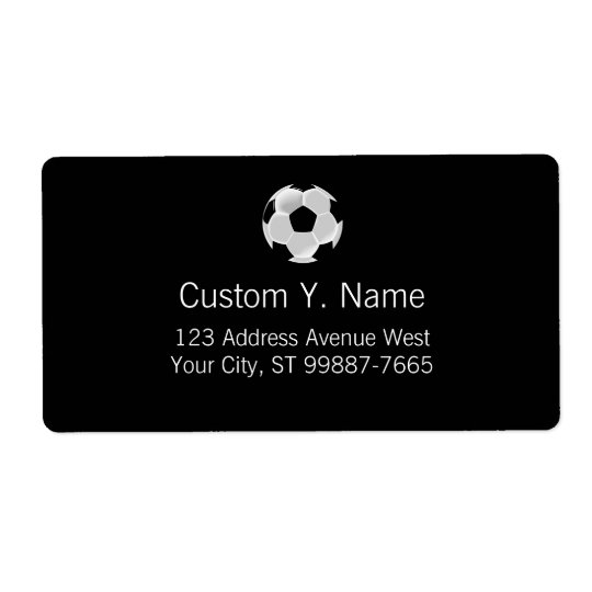 Soccer Football Futbol Ball Shipping Label