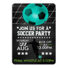Soccer/Football Party Personalised Cool Chalkboard Card