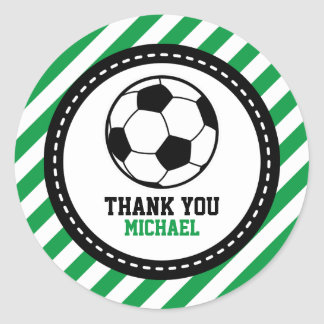 Soccer Football Party Thank You Favor Tags