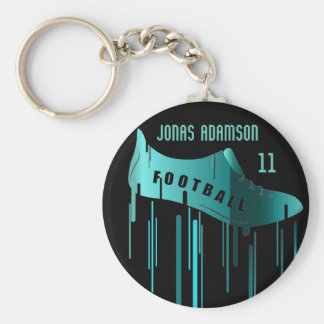 Soccer/Football personalized sports design Key Ring