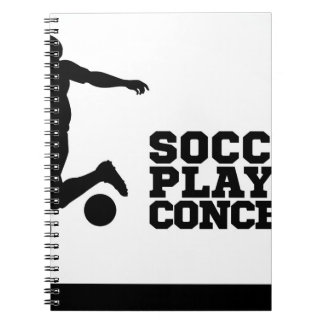 Soccer Football Player Concept Silhouette Notebooks