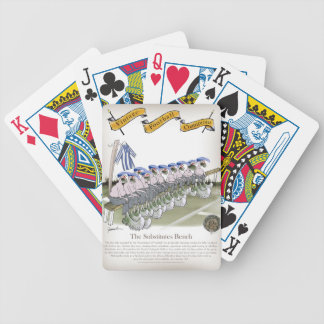 soccer football subs blue white stripes bicycle playing cards