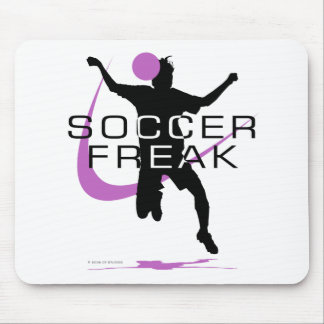 Soccer Freak - Girls - Pink Mouse Pad