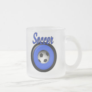 Soccer Frosted Glass Coffee Mug
