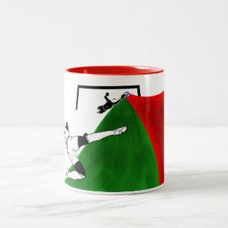 Soccer (Futbol) Two-Tone Coffee Mug