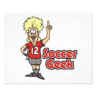 soccer geek girl 11.5 cm x 14 cm flyer