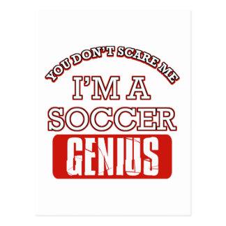 soccer genius postcards