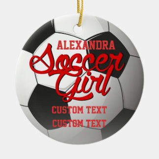 Soccer Girl Custom Ceramic Ornament