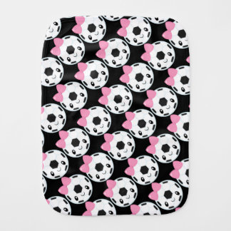 Soccer Girl Emoji Burp Cloth