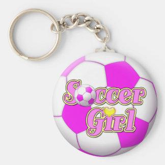 Soccer Girl Keychain