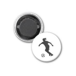 Soccer Girl TAG Player (Female) - White-R Magnet