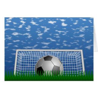 Soccer Goal Greeting Card
