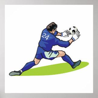 soccer goalie block graphic print
