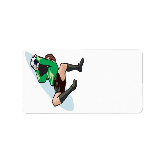 Soccer Goalie Label