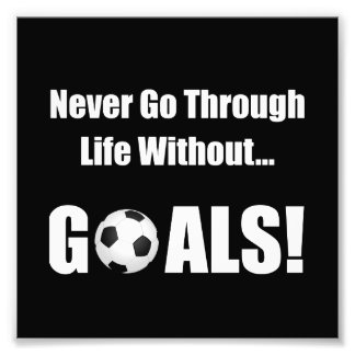 Soccer Goals Photo Print