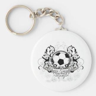 Soccer Grandma Basic Round Button Key Ring