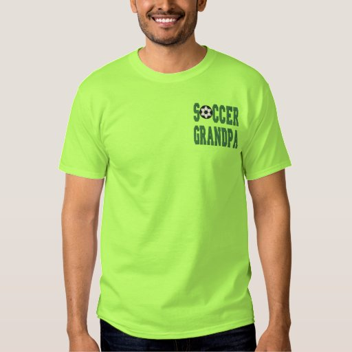 Soccer Grandpa Embroidered T-Shirt