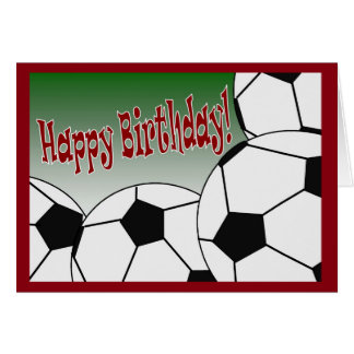 Soccer - Happy Birthday from Biggest Fan! Greeting Card