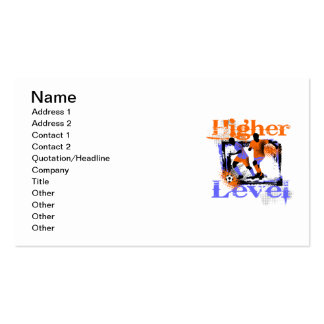 Soccer Higher Level Tshirts and Gifts Business Card Templates