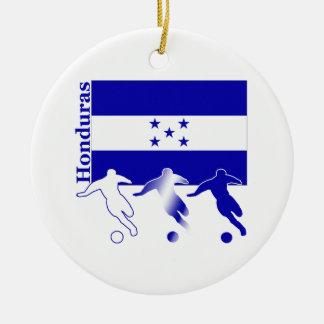 Soccer Honduras Round Ceramic Decoration