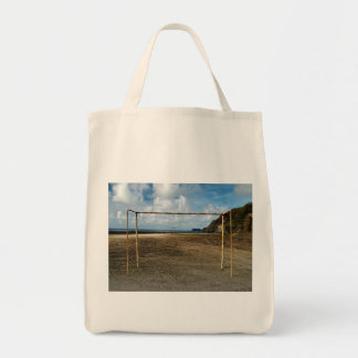 Soccer is everywhere grocery tote bag