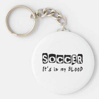 Soccer It's in my blood Basic Round Button Key Ring