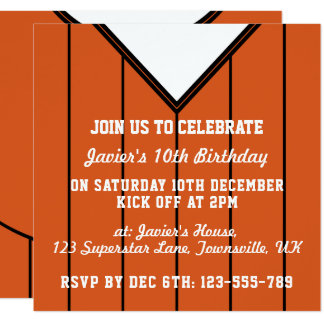 Soccer Jersey Themed Party Invites Template
