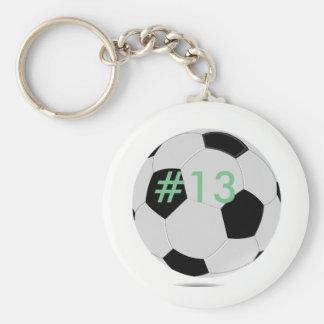 Soccer key chain customized