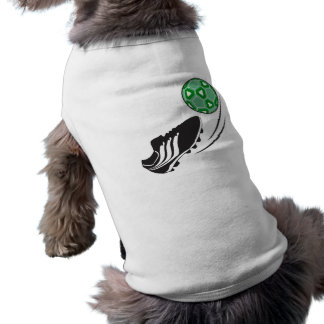 soccer kick kicking ball graphic sleeveless dog shirt