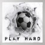 soccer kick poster