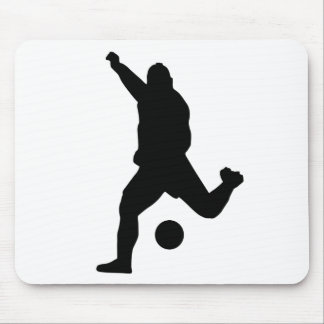 Soccer Kick Silhouette Mouse Pad