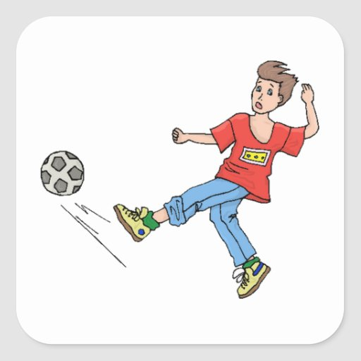 Soccer Kid Stickers