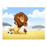Soccer Lion Postcard