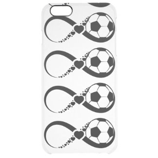 Soccer Love Infinity Clear iPhone 6 Plus Case