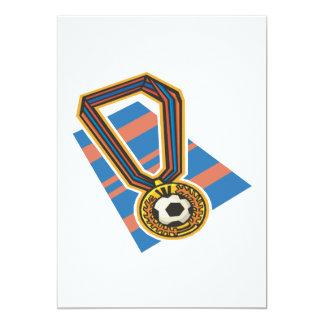 Soccer Medal 13 Cm X 18 Cm Invitation Card