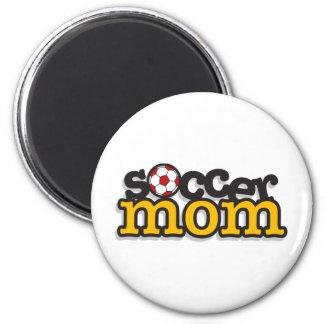 Soccer Mom 6 Cm Round Magnet