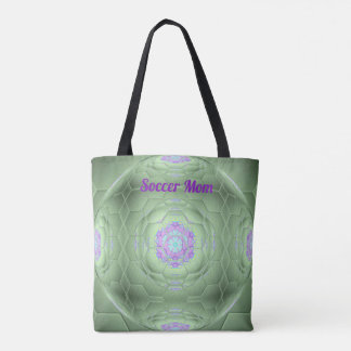 Soccer Mom Artistic Ball Pattern Tote Bag