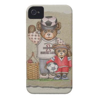 Soccer Mom & Kid Bears iPhone 4 Cases