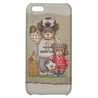 Soccer Mom & Kid Bears Case For iPhone 5C
