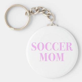 Soccer Mom Slogan Pink Print Keychain