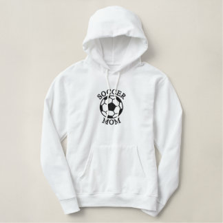 Soccer Mom Template Embroidered Hoodie