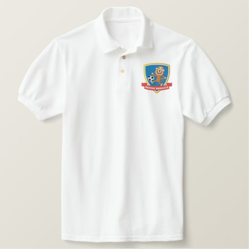 Soccer Monkey Polo Shirt
