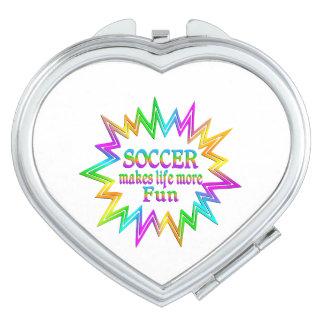 Soccer More Fun Travel Mirrors