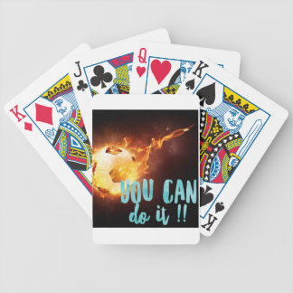 Soccer Motivational Inspirational Success Bicycle Playing Cards