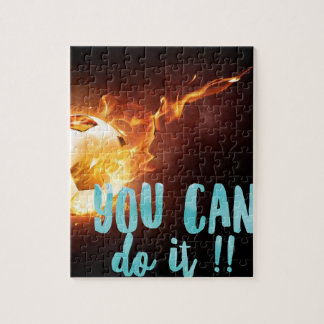 Soccer Motivational Inspirational Success Jigsaw Puzzle