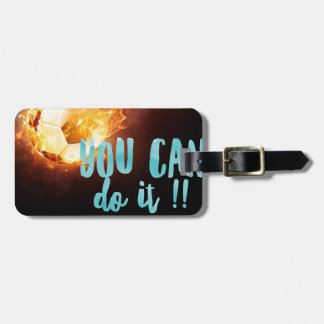 Soccer Motivational Inspirational Success Luggage Tag