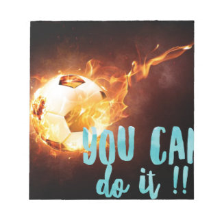 Soccer Motivational Inspirational Success Notepad