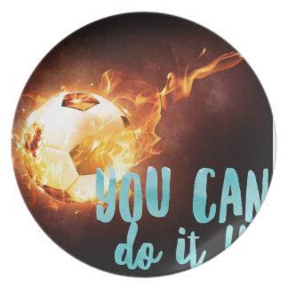 Soccer Motivational Inspirational Success Plate