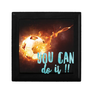 Soccer Motivational Inspirational Success Small Square Gift Box